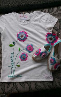 Conjunto camiseta, diadema y alpargatas