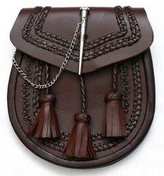 Jacobite Shirt Pattern | New Brown Scottish Kilt Sporran with Pin Lock Tassels | eBay