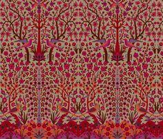 Garden of Paradise 3d fabric by muhlenkott on Spoonflower - custom fabric