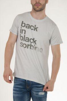 Μπλουζάκι κοντομάνικο γκρι ανοικτό με γράμματα μπροστά αντρικό sorbino