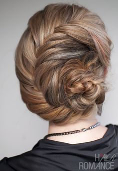 seashell braided updo