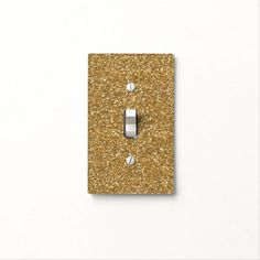 Gold Glam Faux Glitter Switch Plate Cover