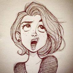 #cameronmark #art #design #illustration #drawing #expression #sketch #pencil #girl #doodle