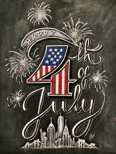 Happy 4th of July chalkboard idea