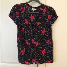 Beautiful Joie floral silk button-down blouse Beautiful Joie floral silk button-down blouse. 100% silk. Excellent condition! Joie Tops Blouses