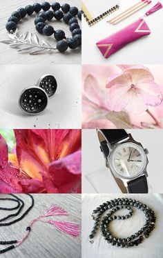Pink and Black by Asta on Etsy--Pinned with TreasuryPin.com