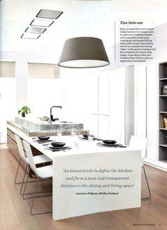 Comment on kitchen islands from Laurence Pidgeon laurencepidgeon.com Beautiful Kitchens August - September 2015