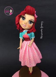 Pin up girls - cake by Marianna_Gomez Fondant Rose, Couture, Doll Crafts, Cake Art, Pin Up Girls, Cake Decorating, Snow White, Sugar Art, Disney Princess