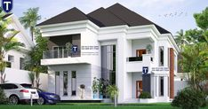 Four bedroom duplex in Nigeria House Outer Design, Modern Small House Design, House Outside Design, Classic House Design, Home Stairs Design, House Front Design, Modern Bungalow House Plans, Duplex House Plans, My House Plans