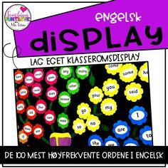 Engelsk Display Høyfrekvente ord Display, Teaching, Billboard, Learning, Education, Tutorials