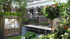 An innovative public library with indoor garden has opened in historic Schiedam, The Netherlands