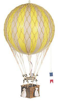"Royal Aero Yellow 13"" Hot Air Balloon Model Decorative Hanging Aviation Decor | eBay"