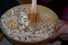 Caramel Marshmallow Popcorn ~  This is exactly how we do popcorn at my house! No microwave ever! It's like a mix between rice crispy treats and fair food. So sinfully bad but so good that you'll find any excuse to make it. AWESOME!