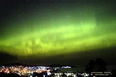 Southern Lights over Hobart, Tasmania, Australia
