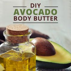 DIY Avocado Body Butter- Smother and smear all over and feel totally moisturized and renewed!   #diyavocado #diymoisturizer #diyavocadolotion