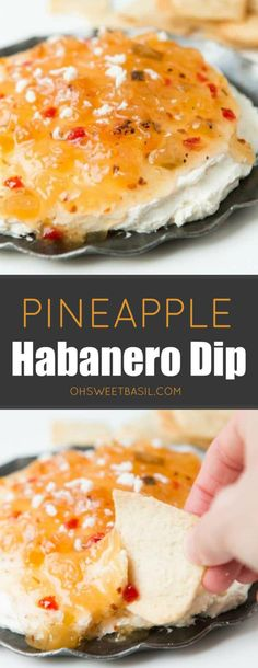 One of the easiest appetizers you could ever make and it's so good! This pineapple habanero dip is so creamy and spicy and overall easily delicious! this pineapple habanero dip is perfect for year round. Spicy Appetizers, Easter Appetizers, Thanksgiving Appetizers, Appetizer Dips, Appetizers For Party, Appetizer Recipes, Best Appetizers Ever, Italian Appetizers, Beach Appetizers