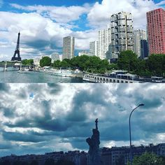 Paris NY twin towns #paris #thewatchobserver #instacool #eiffeltower #statueofliberty #instagood
