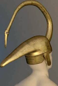 Image result for Bronze ceremonial helmet, in the form of a swan, discovered at a Celtic sanctuary in Tintignac