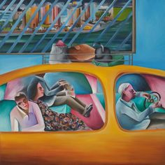 Bhupen Khakhar, First Day in New York, 1983.