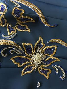 Zardozi - Her Crochet Zardosi Embroidery, Hand Embroidery Dress, Kurti Embroidery Design, Tambour Embroidery, Hand Embroidery Videos, Bead Embroidery Patterns, Couture Embroidery, Embroidery Suits, Embroidery Fashion