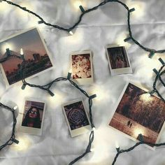 lights, photography, and polaroid image