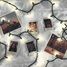 lights, photography, and polaroid image