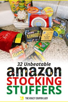 If you're searching for fun and cheap stocking stuffer ideas, you need this list! Stocking stuffers are the icing on the cake when it comes to holiday gift giving. Before you get stuck frantically browsing the aisles of the dollar store on Christmas Eve, you'll want to browse this list of best, practical and funny stocking stuffers on Amazon. A bunch of these items are on sale, so you'll want to act quickly. The Krazy Coupon Lady has the tips you need to save this holiday! #savemoney