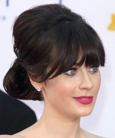 Zooey Deschanel hair-she's sort of my celebrity hair and makeup obsession