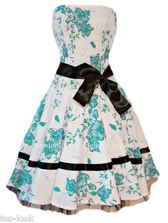 I want this dress! Sexy Vintage Floral 50'S Rockabilly Dress via @Audrey Bonnaire Eluanda