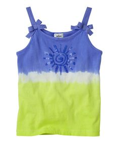 Loving this Periwinkle Blue Sequin Tie-Dye Tank - Infant, Toddler & Girls on #zulily! #zulilyfinds