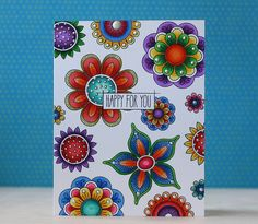 Happy For You Card by Laura Bassen for Papertrey Ink (January 2014)