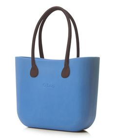 Sky Blue Brown Faux Leather Handle O Bag #zulily #zulilyfinds
