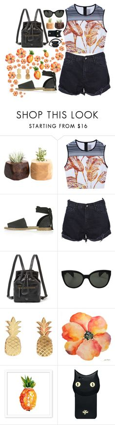 """""""clueless #91"""" by hannahbees ❤ liked on Polyvore featuring Clover Canyon, Topshop, OneTeaspoon, FOSSIL, Oliver Peoples, Vinca, Valfré and Beats by Dr. Dre"""