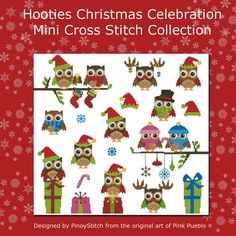 Hey, I found this really awesome Etsy listing at http://www.etsy.com/listing/127874531/hooties-christmas-celebration-owls-mini