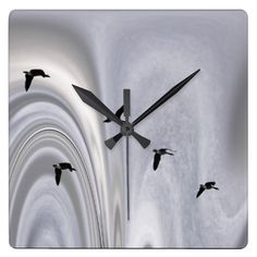 Abstract image created from a montage of two images that create the impression of a flock of geese flying throy in the shape of a coriolus force  Open edition fine art prints can be purchased here: http://fineartamerica.com/featured/flying-on-a-coriolis-wind-wayne-king.html?newartwork=true http://www.redbubble.com/people/waynedking/works/13026458-flying-on-a-coriolis-wind