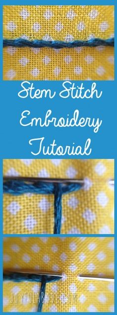 stem stitch hand embroidery tutorial