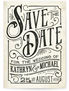 Save the Date Petite Cards by Minted | Inked Save The Date | Wedding
