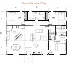 Ponderosa Country Barn Main Floor Plan