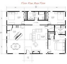 40x40 floor plans Making a Home Pinterest Barn homes
