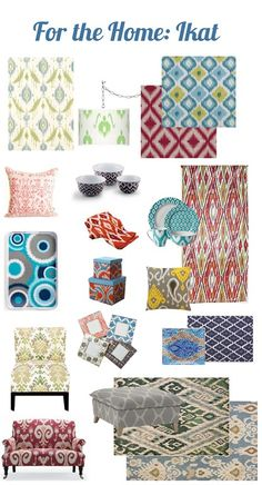 Ikat...love all of the designs!