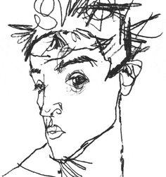 egon schiele line drawings - Google Search