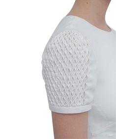 Dress with Smocked Sleeves - creative sewing; fabric manipulation; fashion design details; honeycomb smocking // Valentino