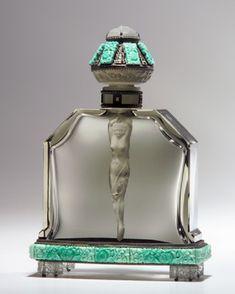 Coleccion antiguos frascos de perfumes de mujer
