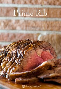 Standing prime rib beef roast, cooked to perfection, perfect for Christmas and…