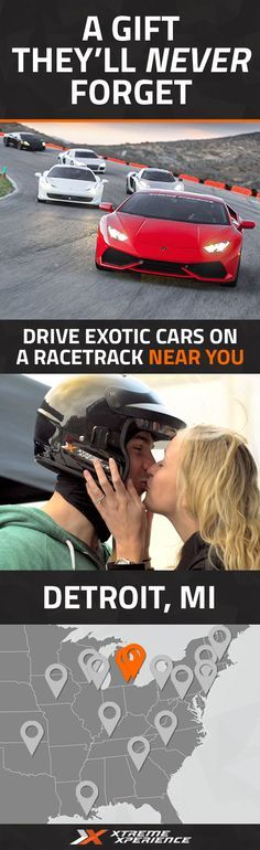 Give the perfect gift that they'll never forget! Driving a Ferrari, Lamborghini, or other exotic sports car on a racetrack is a unique gift idea that is guaranteed to leave a smile on his face and a life-long memory. Xtreme Xperience brings the thrill of a lifetime to you at the Michigan Intl Speedway, October 14-16, 2016 ONLY. Reserve your Supercar Xperience today for as low as $199. Space is limited! Call 866-273-7727