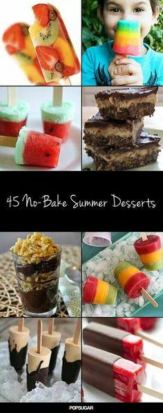 No bake desserts! Such good ideas!