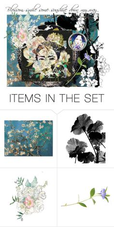 """Blossom"" by artsdesireable ❤ liked on Polyvore featuring art"
