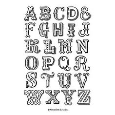 Hand Lettered Alphabet | Hand lettered alphabet, drawn using… | Flickr