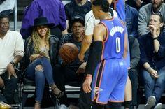 Beyoncé & Jay Oklahoma City Thunder v Los Angeles Clippers Game Staple Center 02.03.2016