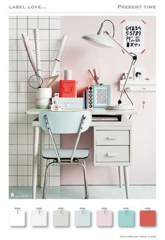 A girly coral, pink, Tiffany blue, and white color palette. Perfect color scheme for the girly retro office. #colorpallet
